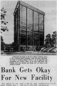 Northwest Bank 1972 Newspaper Article